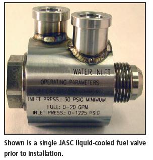 JASC liquid-cooled fuel valve