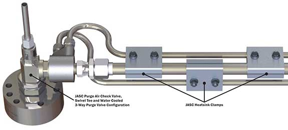 heatsink clamsp with valves