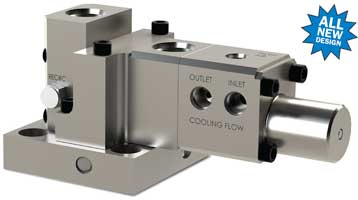 Water-cooled three-way purge valve