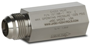 JASC's Liquid Fuel Check Valve