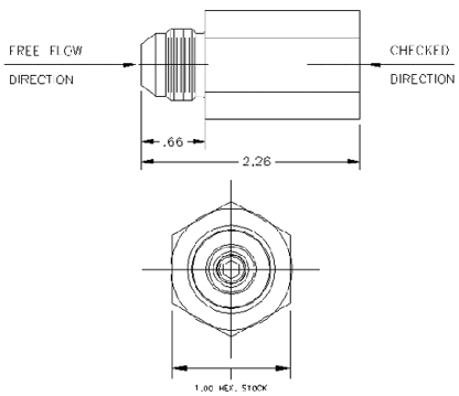Diagram of JASC's Purge Air Check Valve