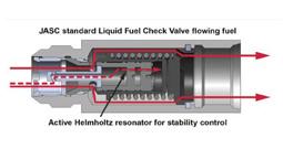 JASC Liquid Fuel Check Valve Flowing Fuel